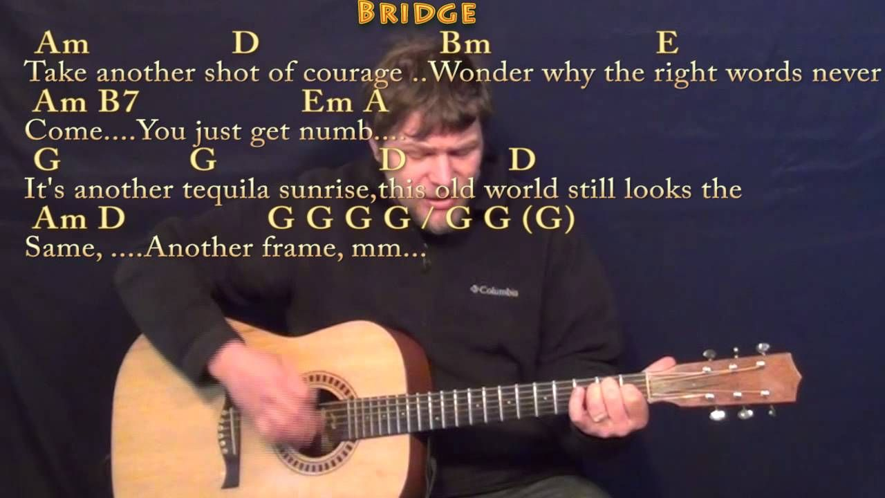 Tequila Sunrise Eagles Strum Guitar Cover Lesson With Chords