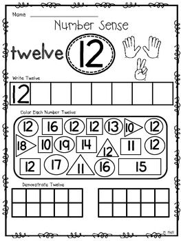 Number Sense Know How! {THE TEENS} Number Worksheets For