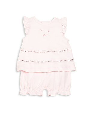 Kissy Kissy Baby's Two-Piece Embroidered Top & Shorts Set