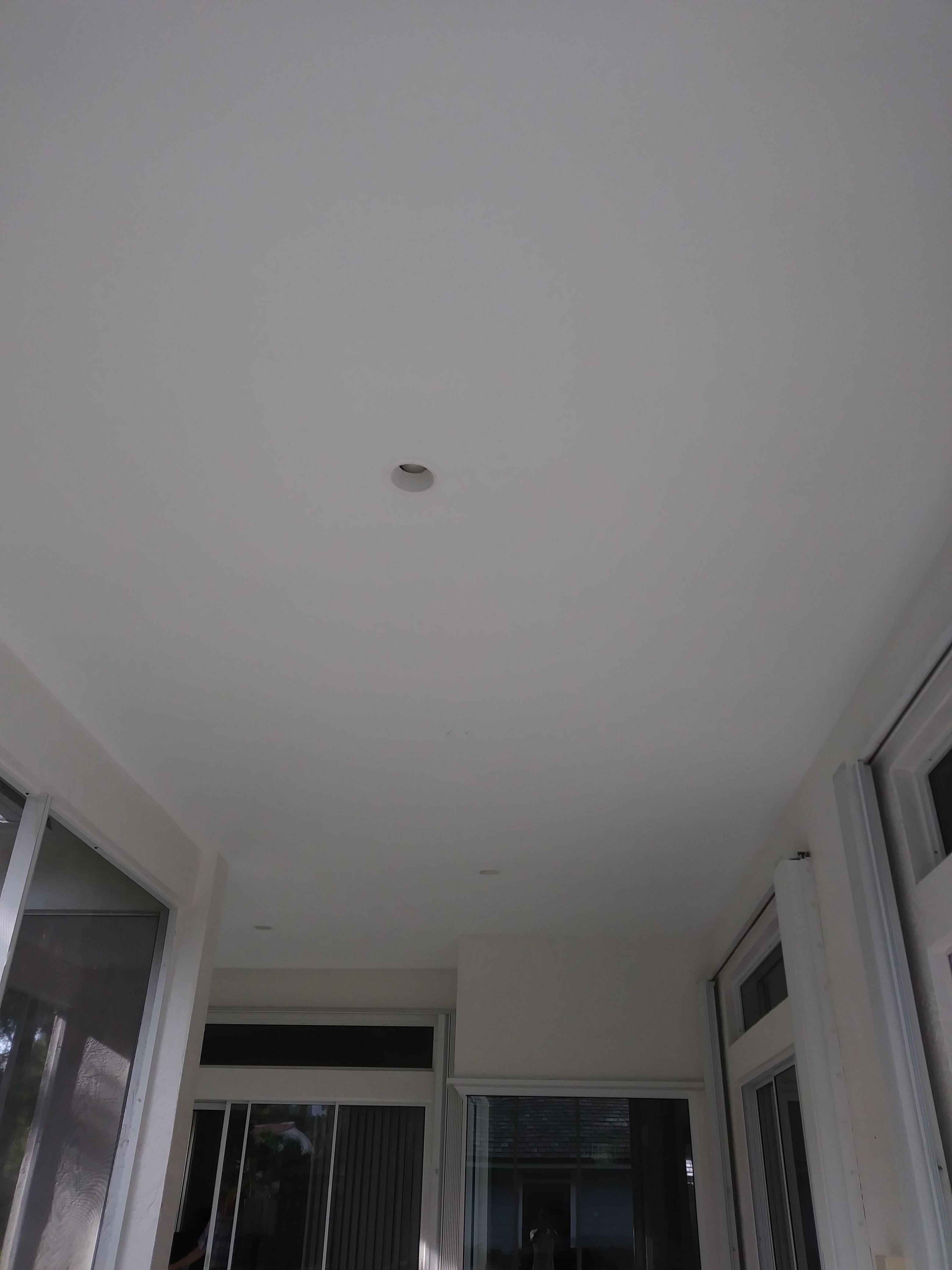 A finish coat of Sherwin Williams eminence flat ceiling paint is ...