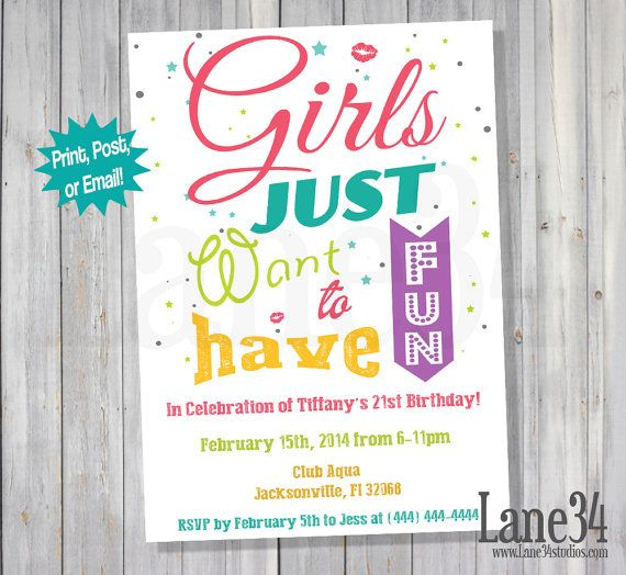 Girls Just Want To Have Fun Girls Night Out By Lane34Party