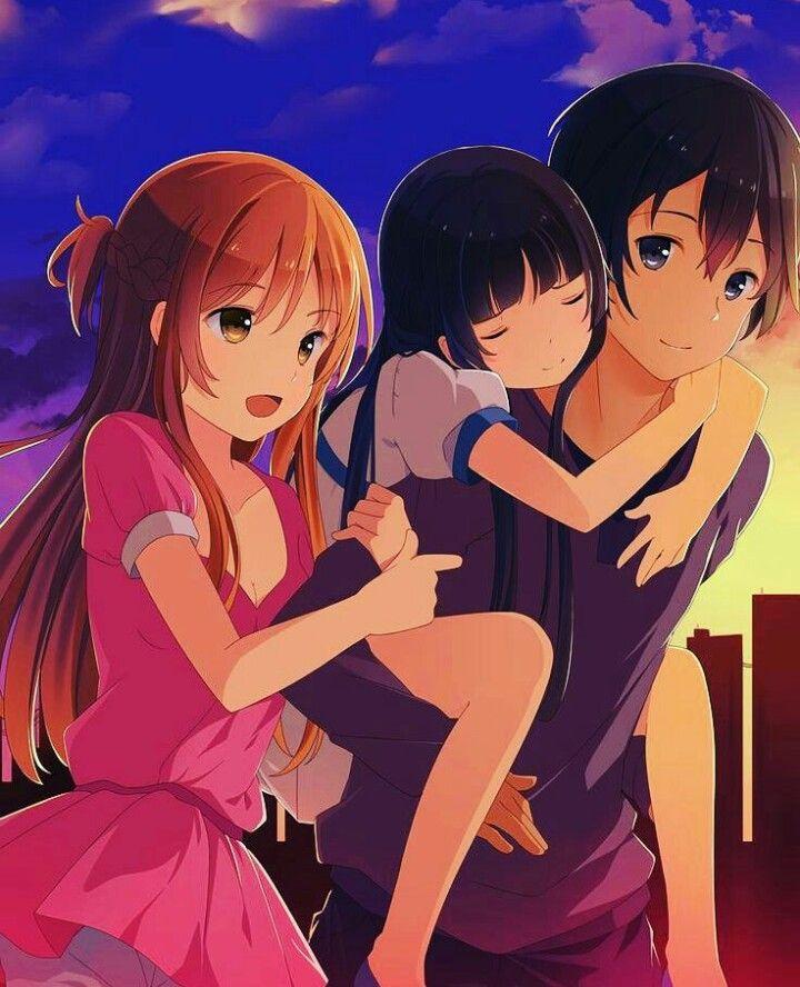 Sword Art Online, Silica, Kirito, Yui, Asuna & Lisbeth