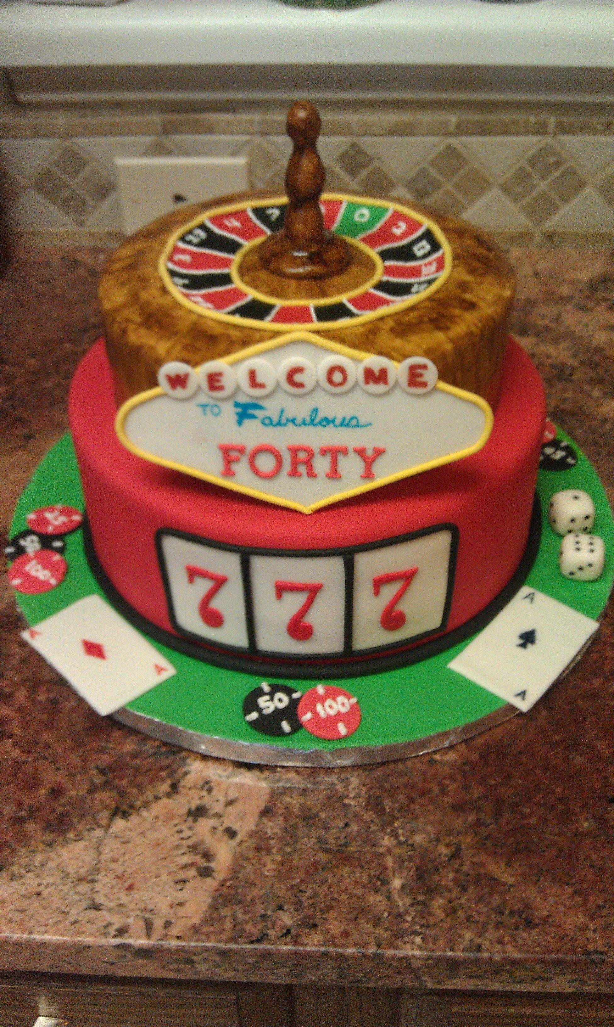 Vegas Themed 40th Birthday 40th Birthday Cakes Crazy Cakes Cake