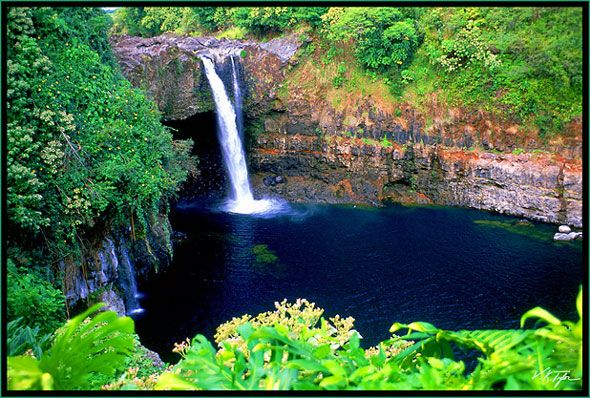 Kayaking off the south shore of Maui, Hawaii Stock Photo #rainbowfalls