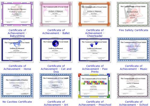 free awards certificates for elementary students teaching