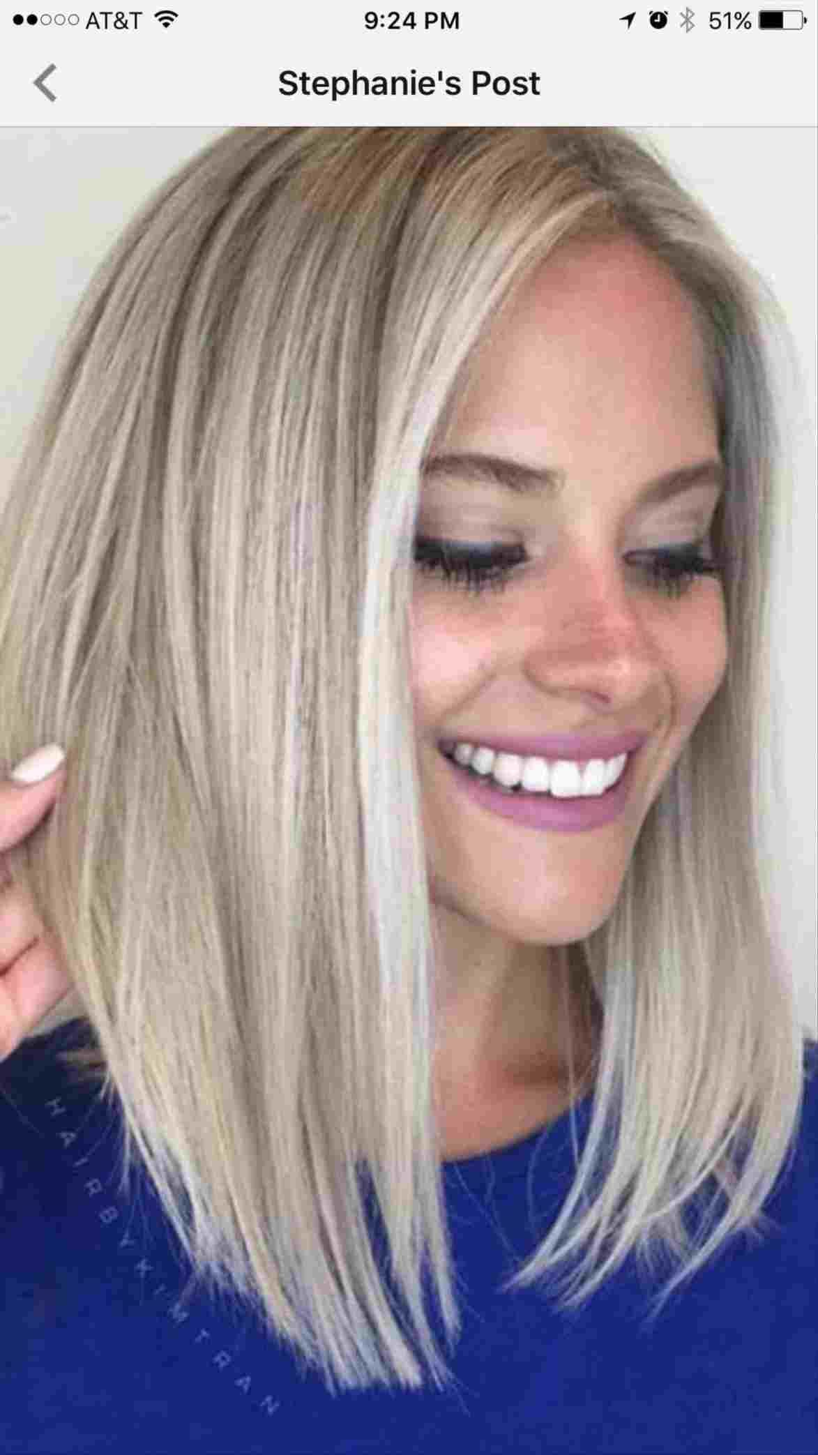 image result for lob haircut for round faces   beauty in