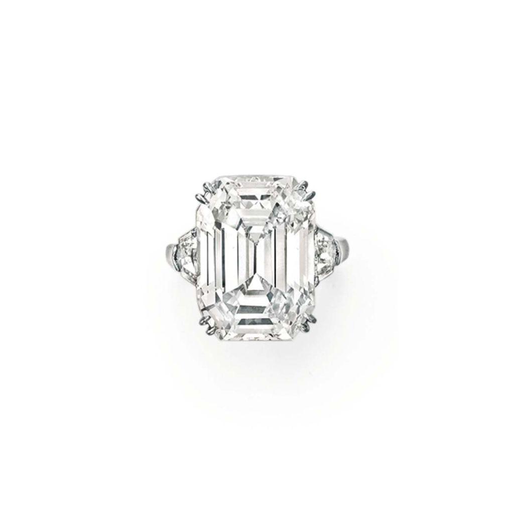 An impressive diamond ring by lorraine schwartz set with a
