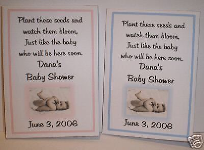 Baby Shower Favors Seeds ~ Girl baby favors boy baby favors baby shower by favoruniverse