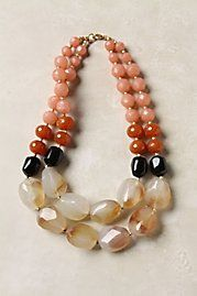Anthropologie multi stone necklace- I can hack that! Diy