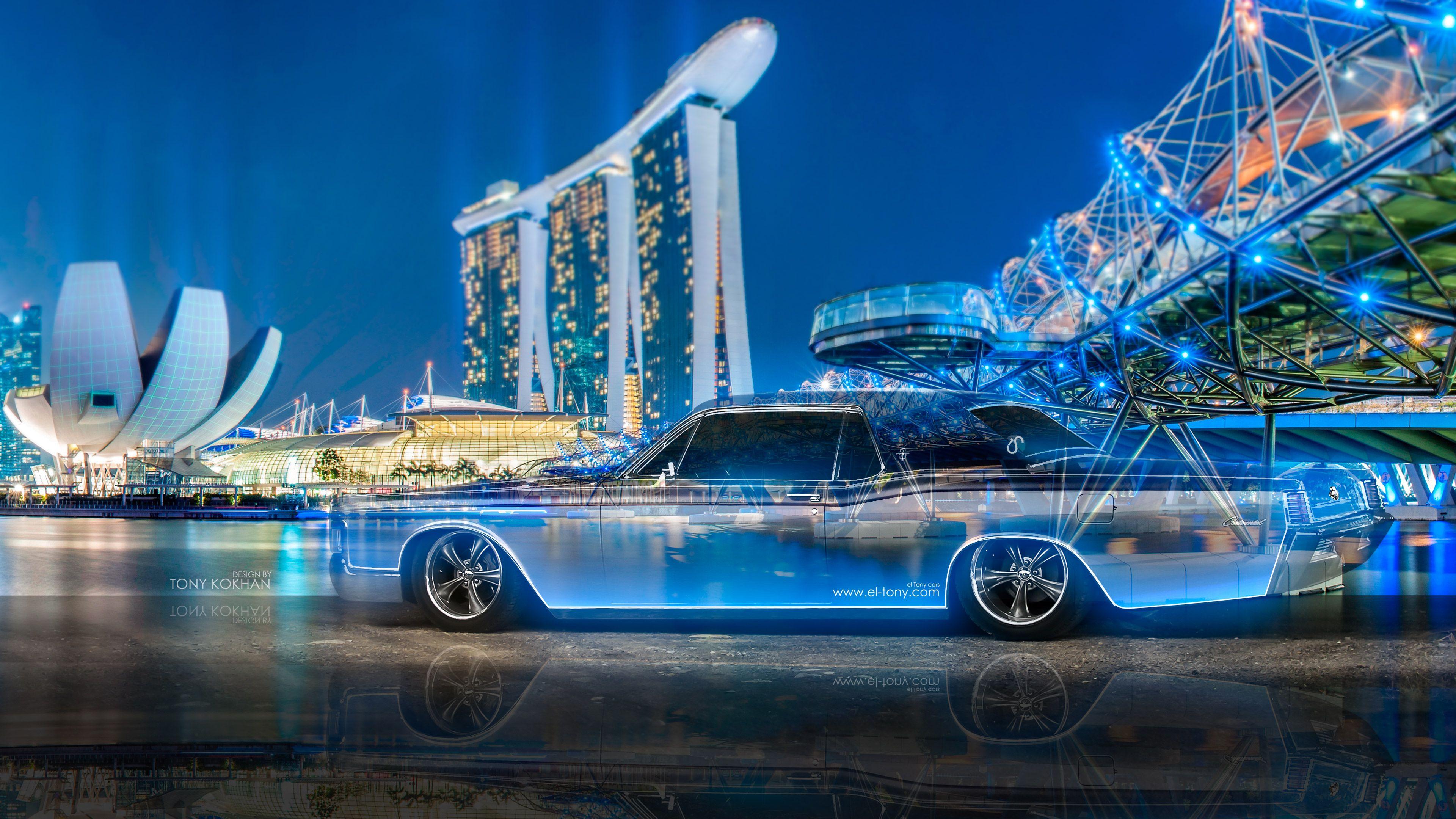 2018, 3D, Blue, City, Continental, Crystal, El Tony Cars,