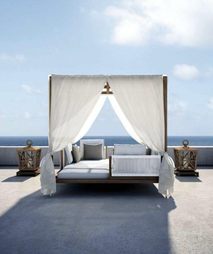 himmelbett für den außenbereich Milla Himmelbett Pinterest - liegestuhl im garten 55 ideen fur gestaltung vom lounge bereich