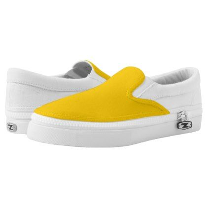 Plain Retro Tree Baubles yellow slip on shoes - minimal gifts style