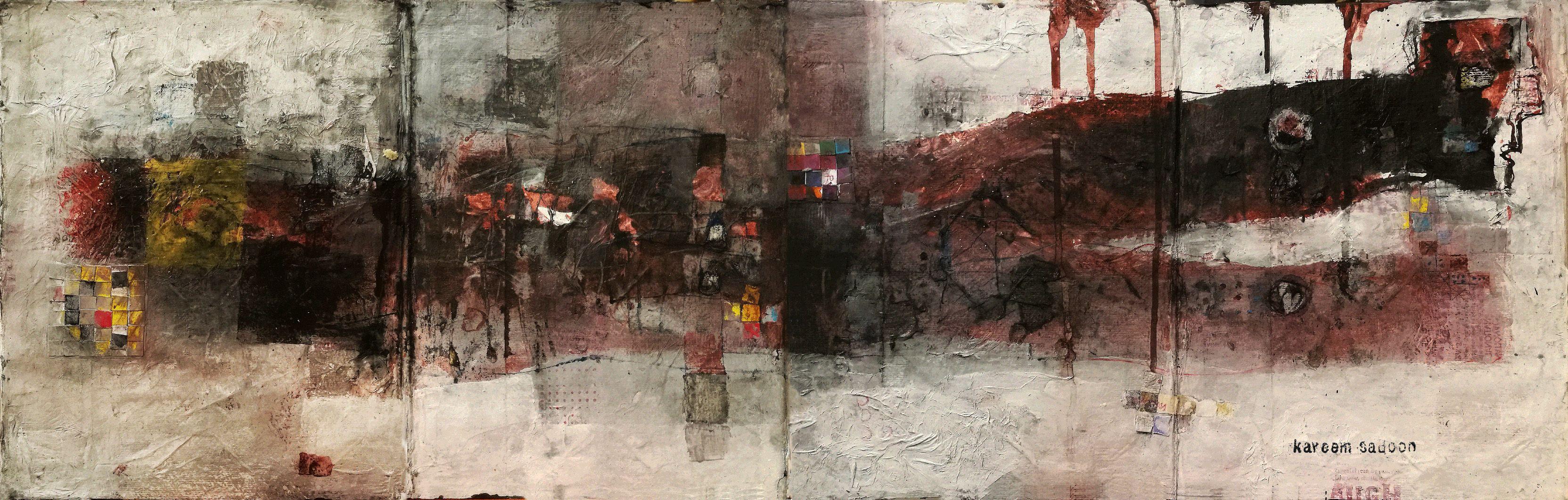 35x190cm Mixed media ov handmade paper 2017