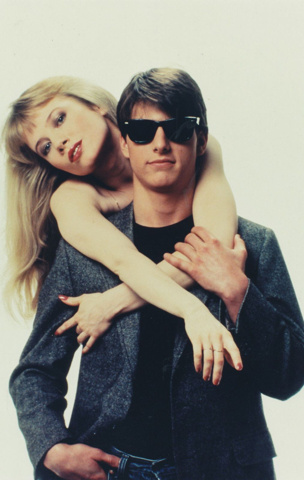 """Rebecca De Mornay and Tom Cruise in """"Risky Business"""", 1983"""