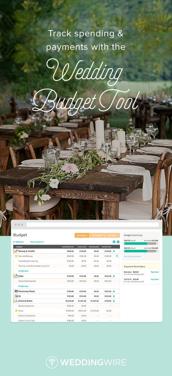 wedding budget tool to help you plan your wedding wedding