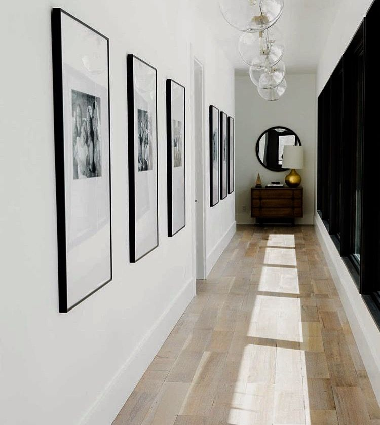 Modern Family Photo Ideas. Long HallwayUpstairs HallwayHallway ArtModern ...