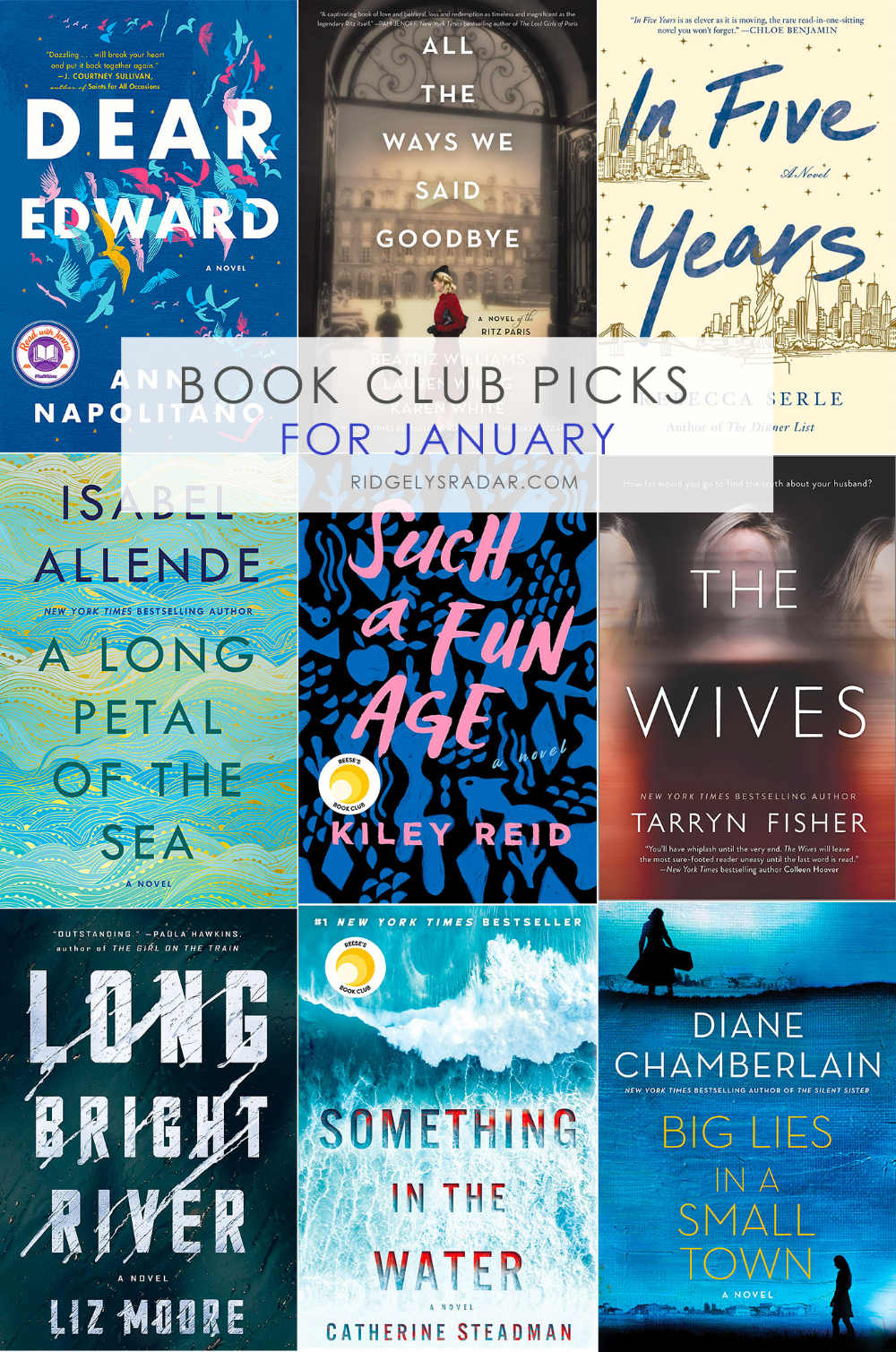 Book Club Books For January Ridgely S Radar In 2020 Book Club Books Book Club Sunshine Books