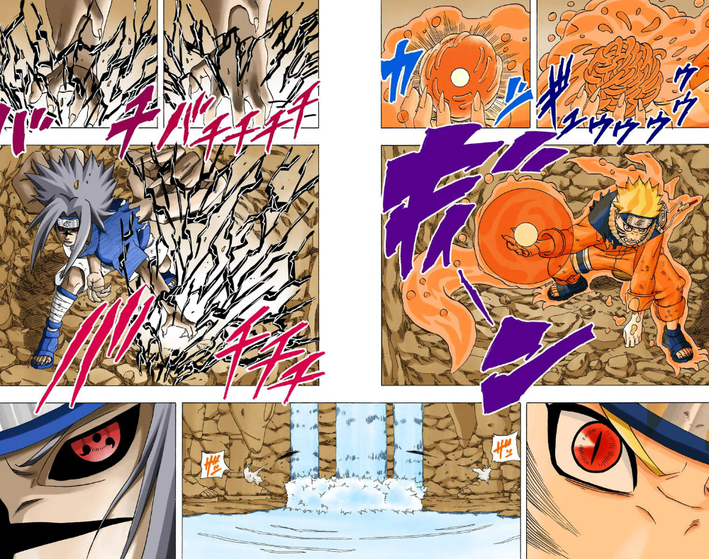 A Few Two Page Spreads From Shueisha S Official Digitally Colored Manga Naruto Art Naruto Wallpaper Thicc Anime