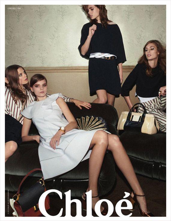 Caroline Brasch Nielsen, Tilda Lindstam, Rosie Tapner & Nadja Bender for CHLOE Spring 2013 Ad Campaign #FASHIONnews