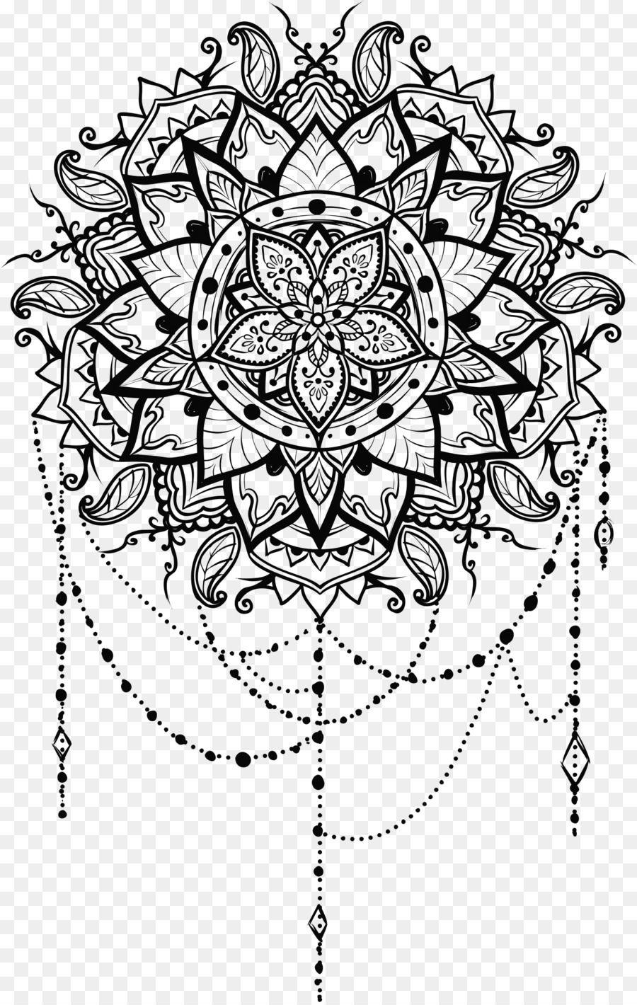 Line Art Mandala Drawing Ornament Om Mandala Tattoo Design Mandala Coloring Books Mandala Drawing