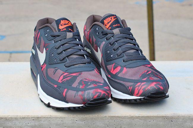 Nike Air Max 90 Premium Tape Red Camo | Fashion | Air max 90