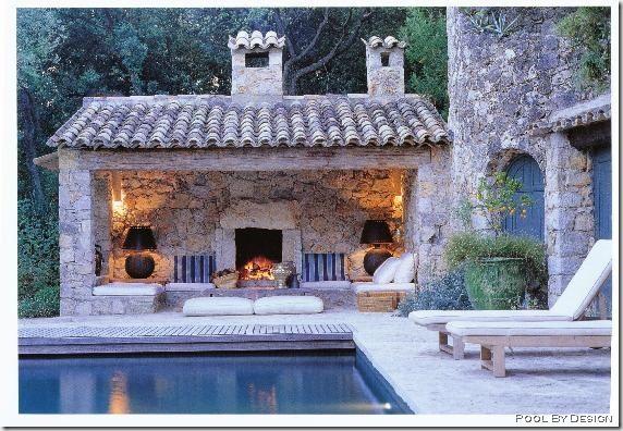 Pool + Fireplace + Indoor/outdoor Space + Home Design U003d Wow!