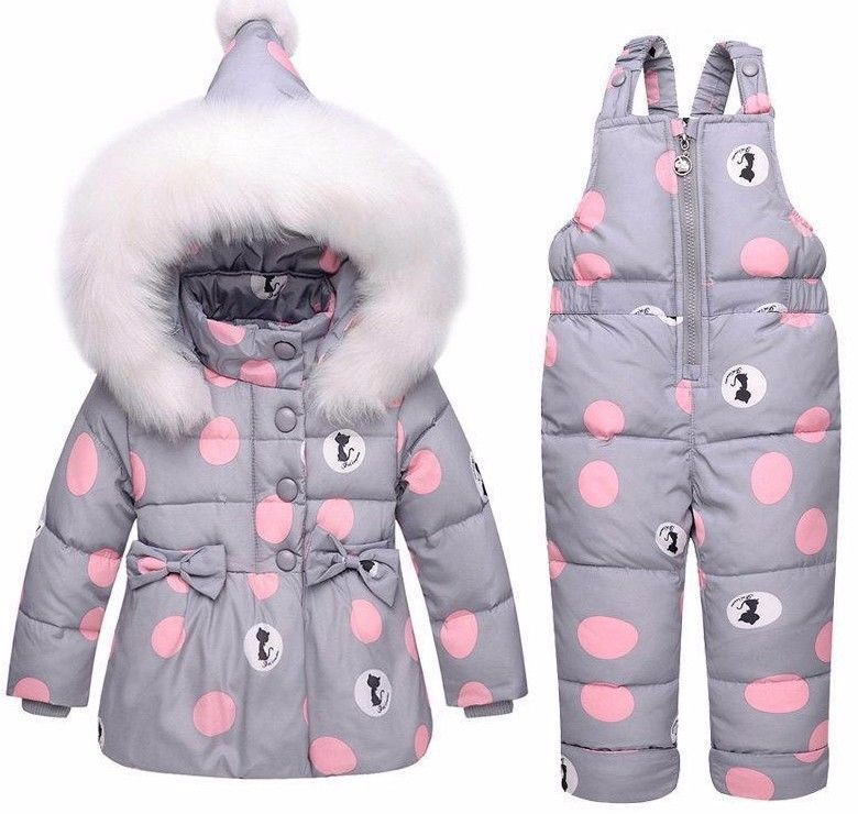 2912de7a9 Winter Children Clothing Sets Girls Warm Down Jacket For Baby Coat ...
