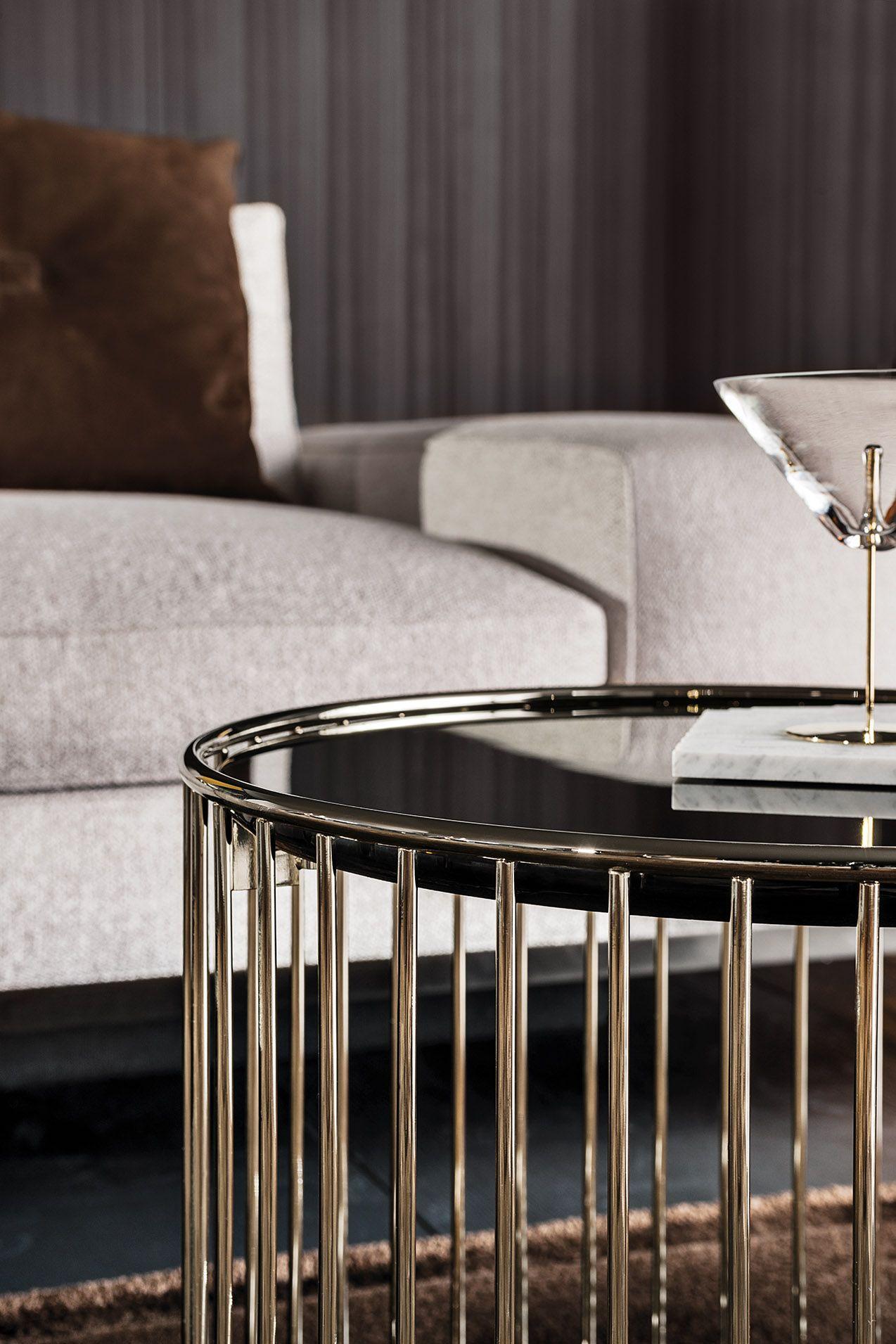 Caulfield Gold Coffee Table, Rodolfo Dordoni Design #Minotti #Furniture #