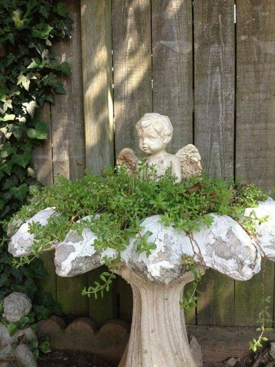 Garden fountain -   23 cottage garden shade