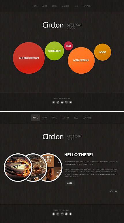Website Templates Circlon Design Moto Cms Html Templatessawyer  Web Design