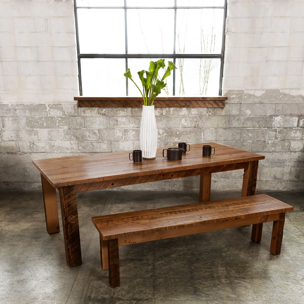 A Classic Rustic Farm Table With Heirloom Quality Design And