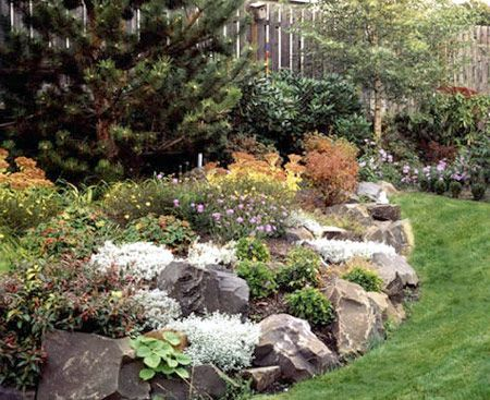 Love this natural look of the rock gardening ideas for Idea de deco garden rockery