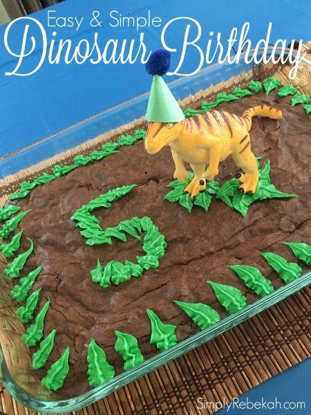 Easy And Simple Dinosaur Birthday Party Dinosaur Birthday Party