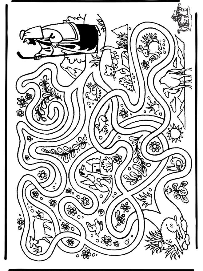 *coloring pages sheep and the shepherd Coloring Pages