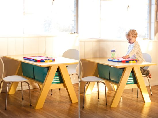 Strawberry Chic: Pottery Barn Kids Table DIY. This Would Make A Great Train  Table