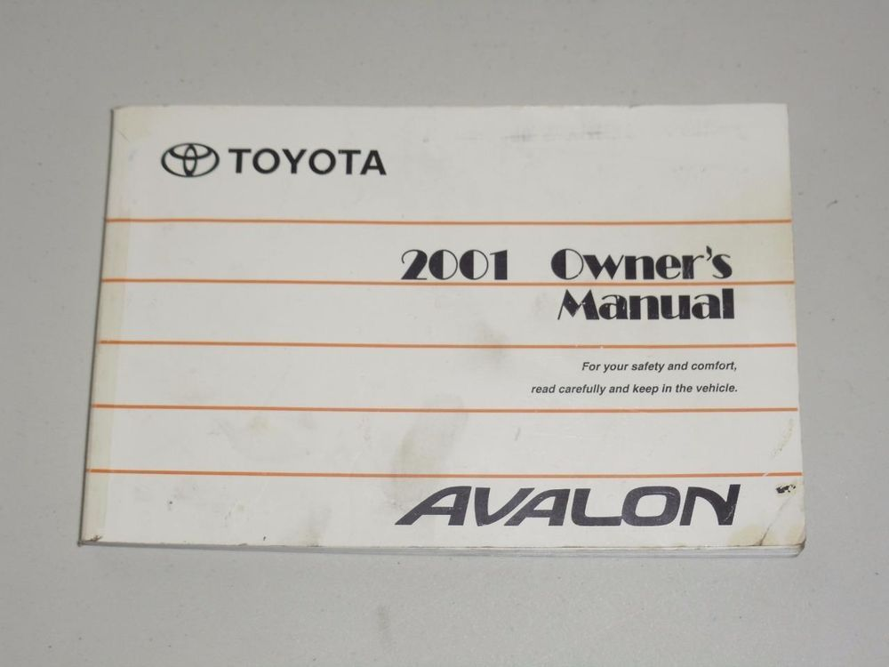 2001 toyota avalon owners manual