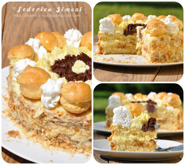 La cucina di federica torta saint honor semifreddi - La cucina di sara torte ...