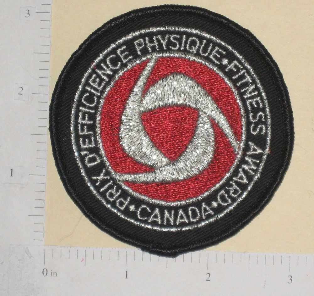 Silver Prix D'effience Physique Fitness Award Canada Patch