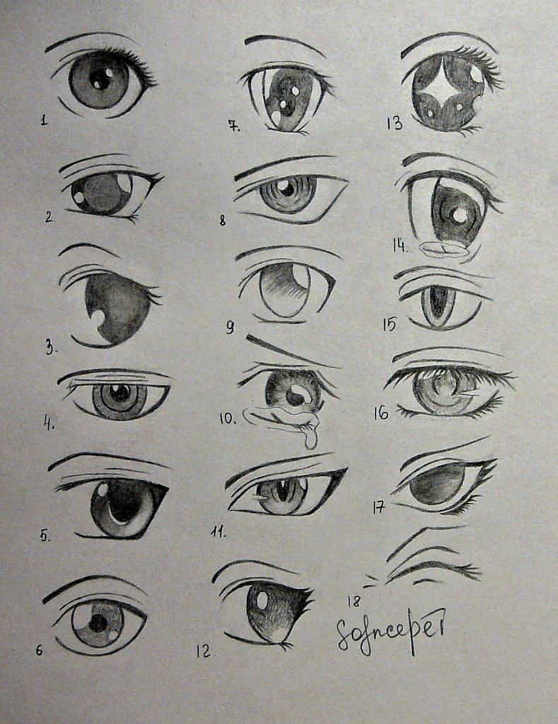 Different Ways To Draw Anime Eyes Anime Eyes Solncedei On Deviantart Anime Eye Drawing Anime Drawings Sketches Anime Drawings