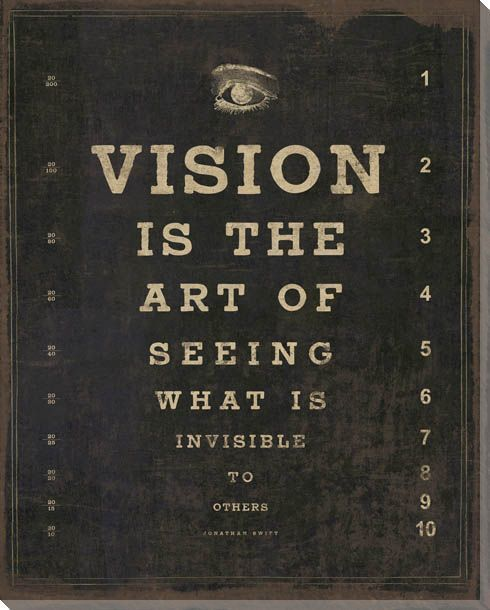 Open your eyes and your mind to new ideas. #improveitchi #vision