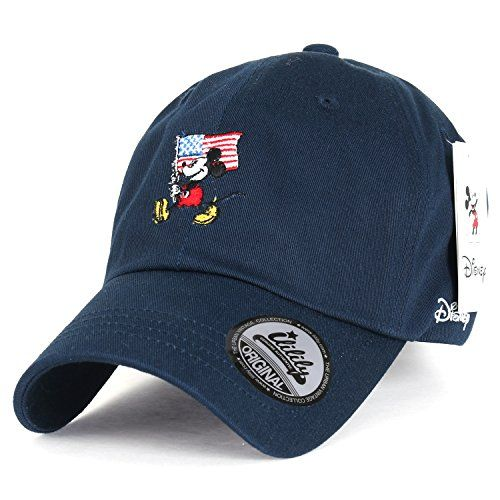 Disney Mickey Mouse American Flag Embroidery Cotton Curved Hat Baseball Cap (ballcap-1416-4) >>> You can get more details by clicking on the image.