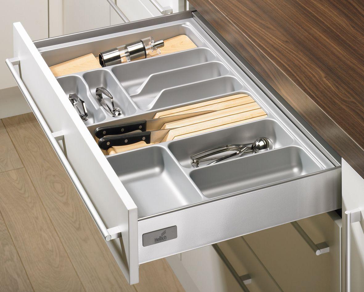 Ramasse couverts orgatray basic 1 hettich disponible sur for Amenagement tiroir cuisine