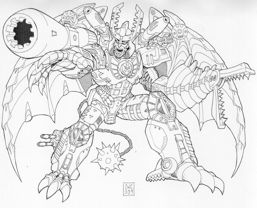 Megatron Transformers Coloring Page Transformers Coloring Pages Monster Coloring Pages Coloring Pages