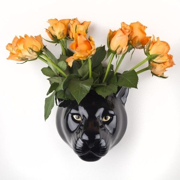 Black Panther Ceramic Wall Vase 46 Liked On Polyvore Featuring