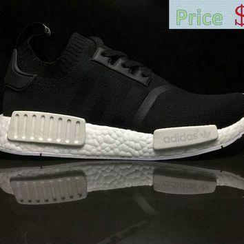 ce43969d8d481 Cheap sneakers Unisex Adidas NMD R1 PK PrimeKnit Monochrome Black White  BA8629 sneaker