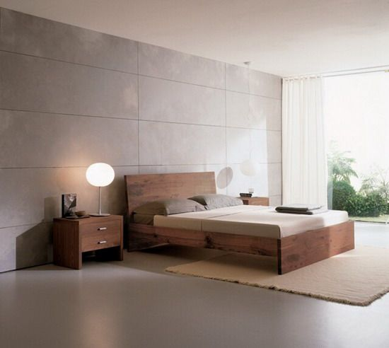 Modern Japanese Bedroom Simple Bed Design Clean Textures And Lines