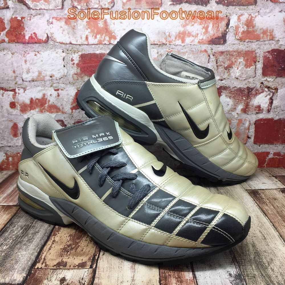 0eb506440 Nike Mens Air Max TOTAL 365 Trainers Grey sz 9 Football Soccer Sneakers US  10 44 | eBay
