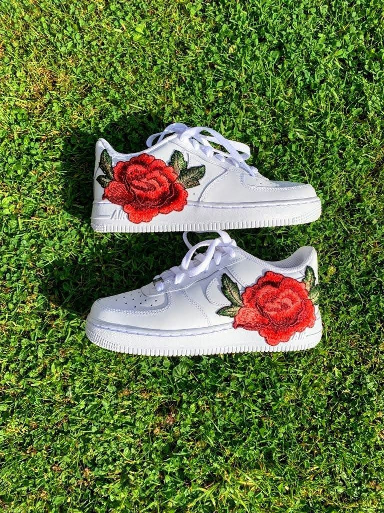 Custom Air Force 1 Low Embroidered Rose Air Force by