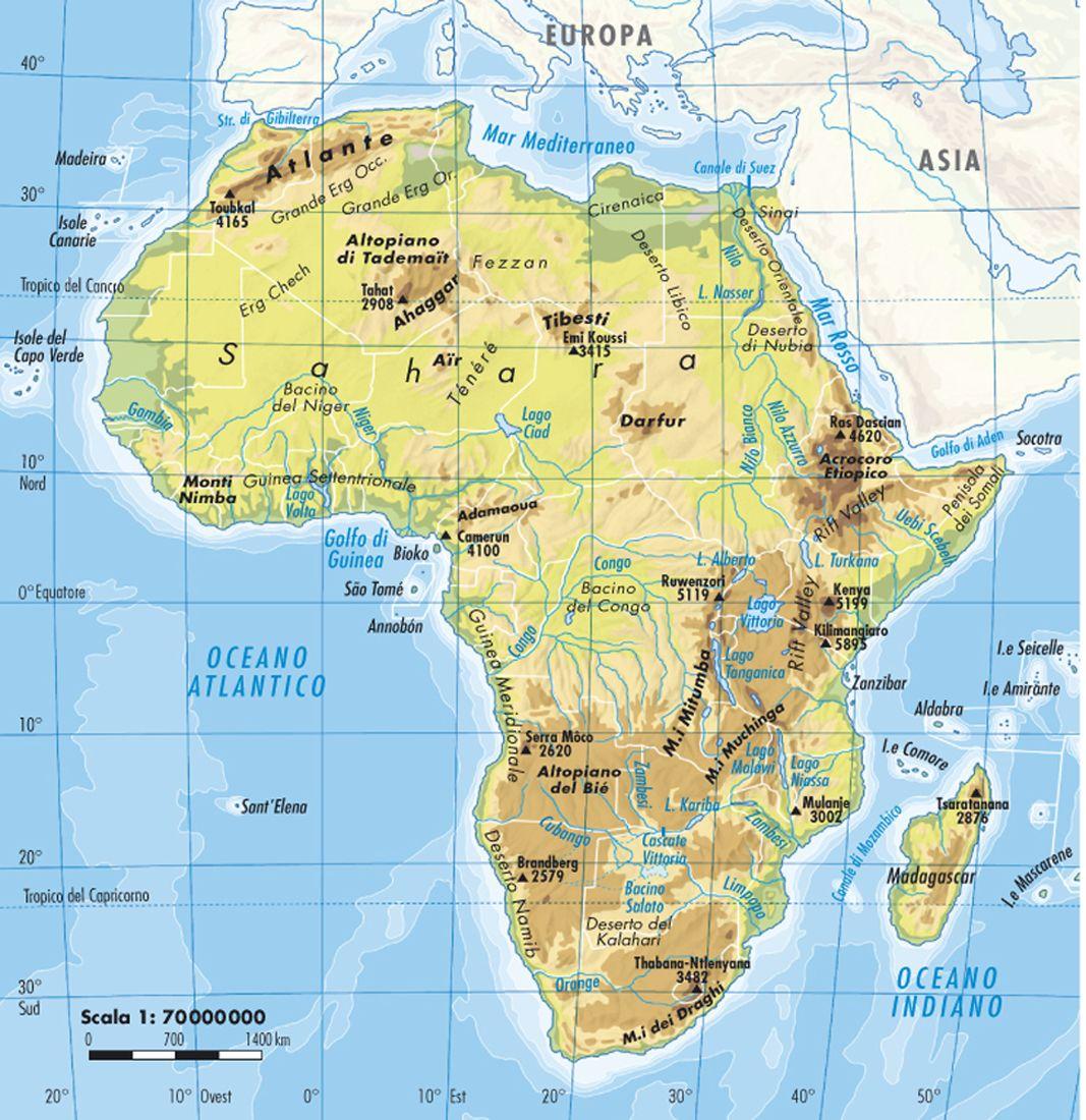 Africa Centrale Cartina Politica.L Africa Carta Fisica Socotra Africa Asia