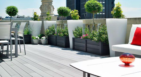 Arte y jardiner a dise o de jardines el jard n en macetas - Macetas para jardin exterior ...